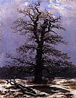 Caspar David Friedrich Oak in the Snow painting
