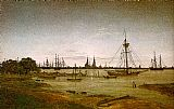 Caspar David Friedrich Port by Moonlight painting
