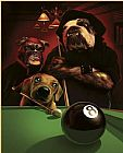 Cassius Marcellus Coolidge The Eight Ball painting