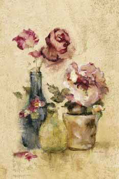 Cheri Blum Pots of Roses Panel III
