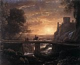 Claude Lorrain Imaginary View of Tivoli painting