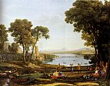 Claude Lorrain Landscape With The Marriage Of Isaac And Rebekah painting