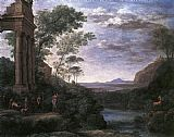 Claude Lorrain Landscape with Ascanius Shooting the Stag of Sylvia painting