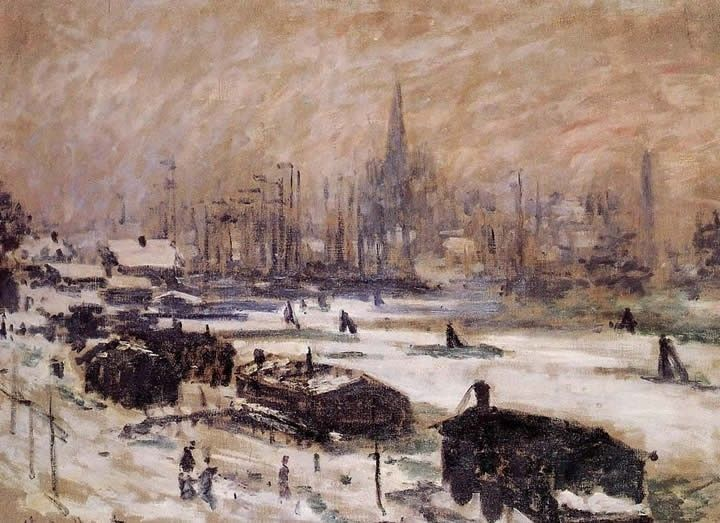 Claude Monet Amsterdam in the Snow