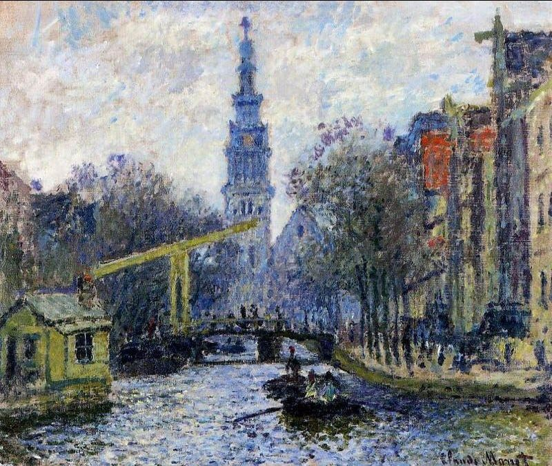 Claude Monet Canal In Amsterdam