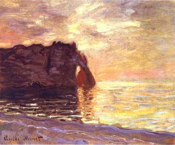 Claude Monet Etretat The End of the Day