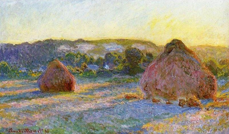 Claude Monet Grainstacks At The End Of Summer Evening Effect