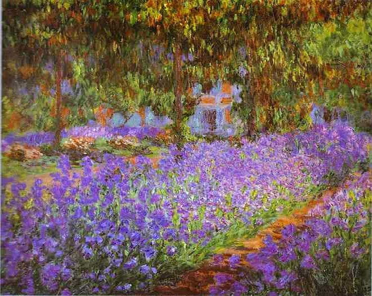 Claude Monet Irises in Monet's Garden
