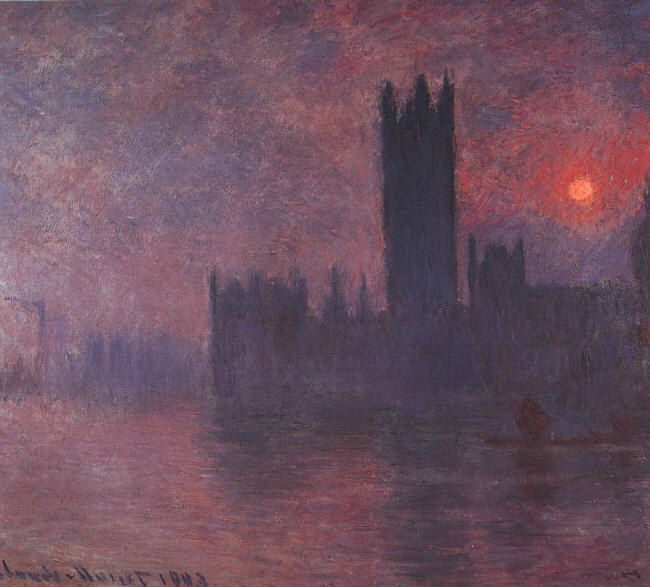 Claude Monet London Houses of Parliament at Sunset