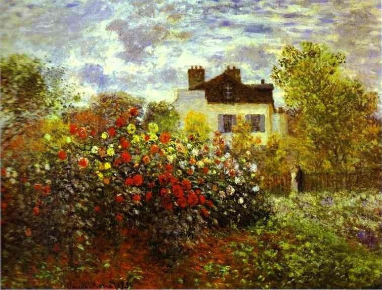Claude Monet Monet's Garden at argenteuil