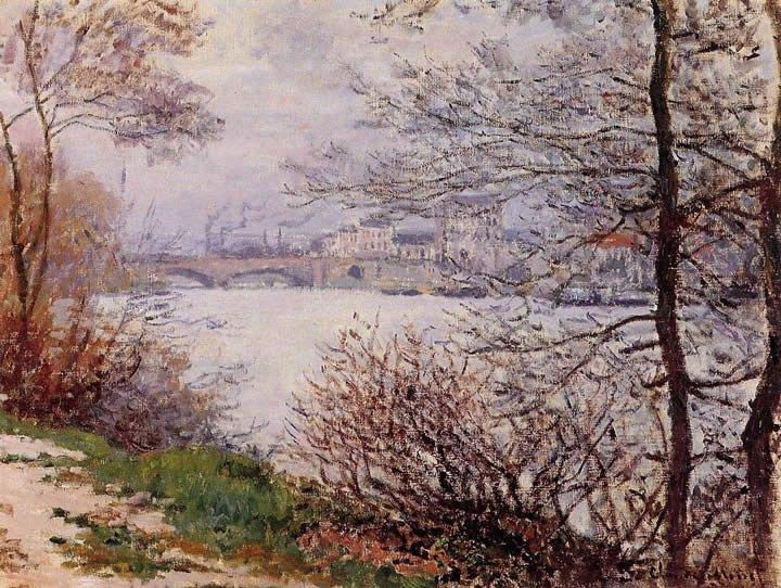 Claude Monet The Banks of the Seine Ile de la Grande Jatte