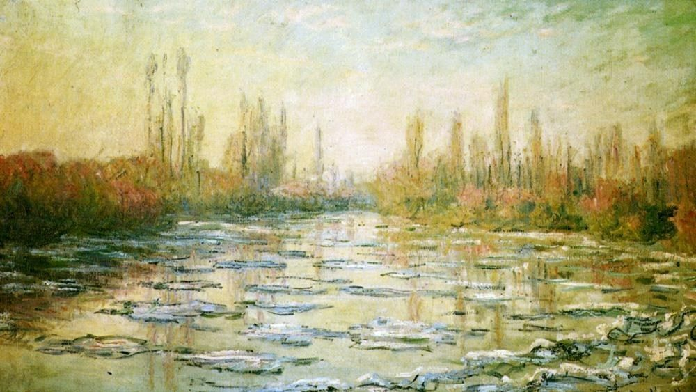 Claude Monet The Ice-Floes