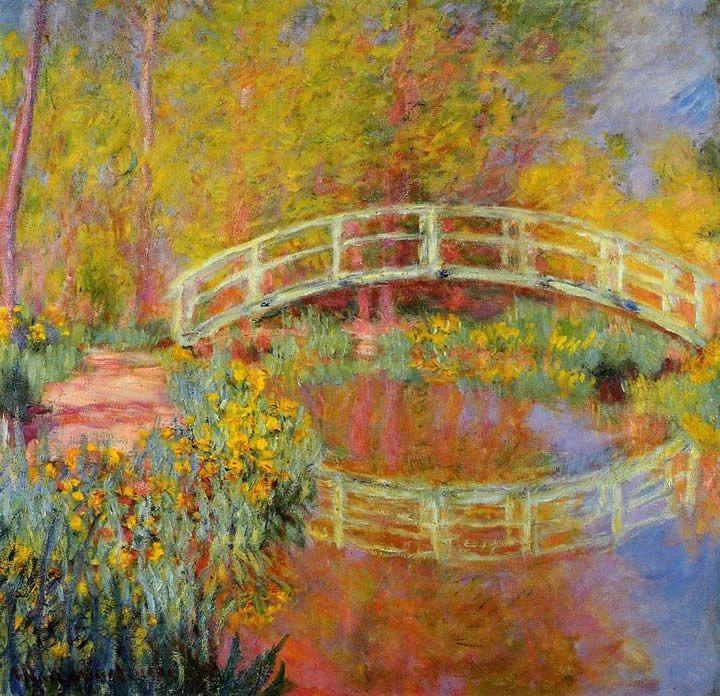 Claude monet paintings claude monet the japanese bridge 01 painting