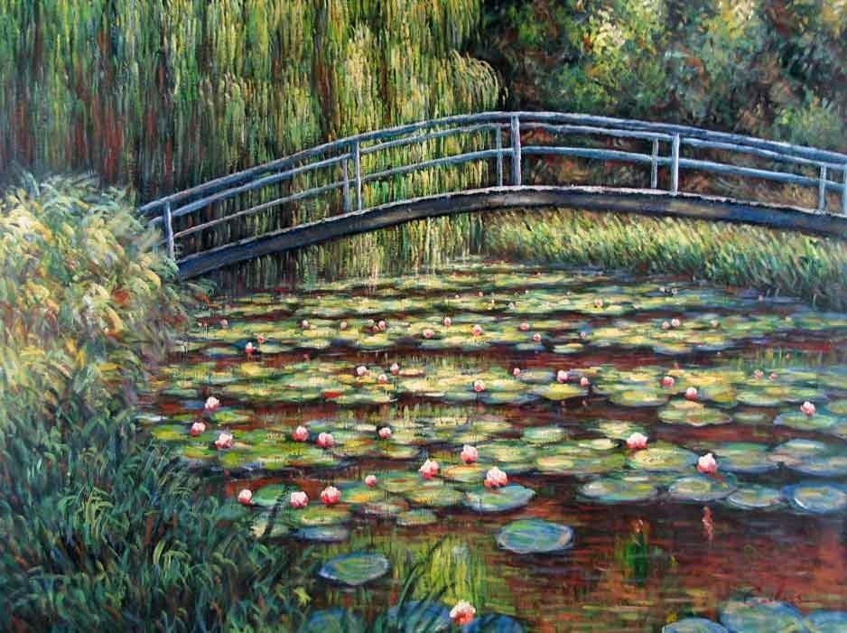 Claude Monet The Water Lily Pond Pink Harmony
