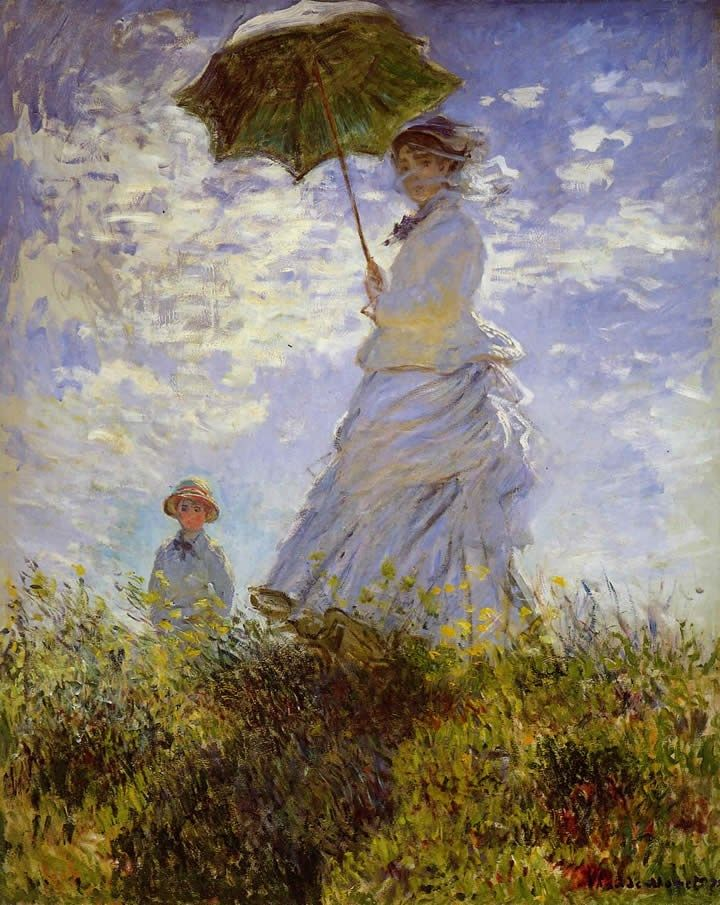 Claude Monet The Woman With The Parasol