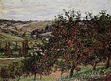Claude Monet Apple Trees near Vetheuil painting