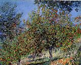 Claude Monet Apple Trees on the Chantemesle Hill painting