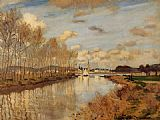Claude Monet Argenteuil Seen from the Small Arm of the Seine 2 painting