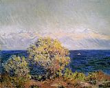 Claude Monet At Cap d'Antibes Mistral Wind painting