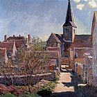 Claude Monet Bennecourt 1 painting