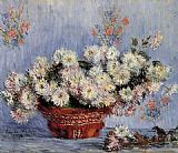 Claude Monet Chrysanthemums 1 painting