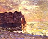 Claude Monet Etretat The End of the Day painting