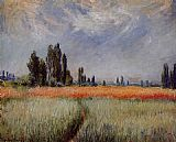 Claude Monet Field of Corn painting
