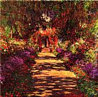 Claude Monet Garden Path at Giverny painting