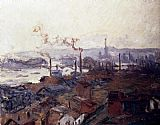 Claude Monet General View Of Rouen From St Catherine s Bank painting