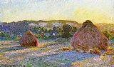 Claude Monet Grainstacks At The End Of Summer Evening Effect painting