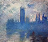 Claude Monet Houses of Parliament Westminster painting