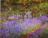 an evening rose garden Framed Prints - Irises in Monet's Garden
