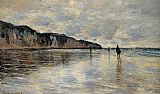 Claude Monet Low Tide at Pourville painting