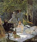 Claude Monet Luncheon on the Grass_ Center Panel painting