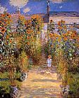 Claude Monet Monet's Garden at Vetheuil 1881 painting