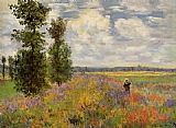 Claude Monet Poppy Field Argenteuil painting