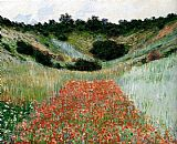 from the hill giverny Framed Prints - Poppy Field In A Hollow Near Giverny