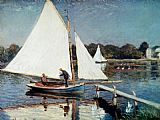 Claude Monet Sailing At Argenteuil painting