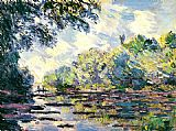 Claude Monet Section of the Seine near Giverny painting