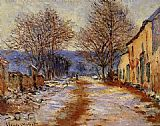 Claude Monet Snow Effect at Limetz painting