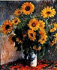 Floral paintings - Sunflowers by Claude Monet