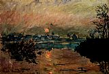 Street paintings - Sunset by Claude Monet
