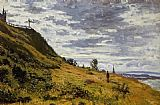 Claude Monet Taking a Walk on the Cliffs of Sainte-Adresse painting