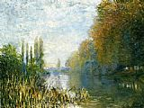 Claude Monet The Banks of The Seine in Autumn painting