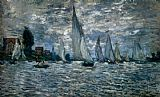 Claude Monet The Boats Regatta At Argenteuil painting