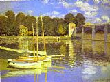 Claude Monet The Bridge at Argenteuil painting