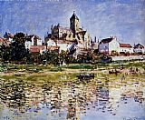 Church paintings - The Church At Vetheuil by Claude Monet