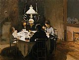 Claude Monet The Dinner painting