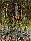 Claude Monet The Garden Gladioli painting