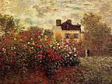 Claude Monet The Garden at Argenteuil painting